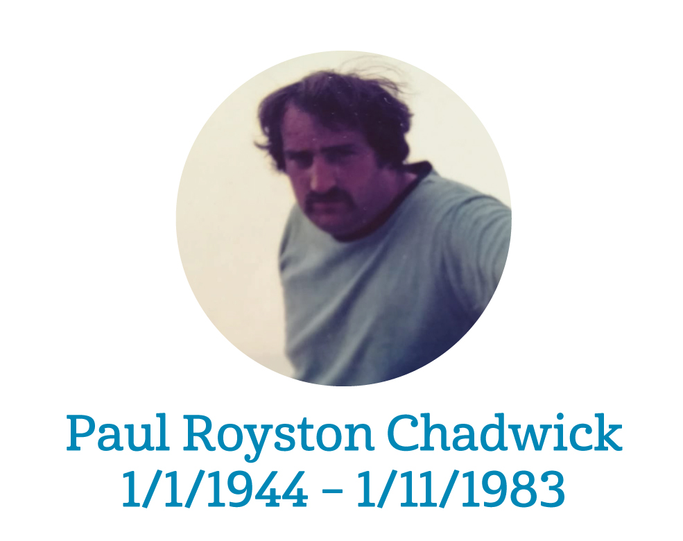 Paul Royston Chadwick - 1/1/1944 – 1/11/1983
